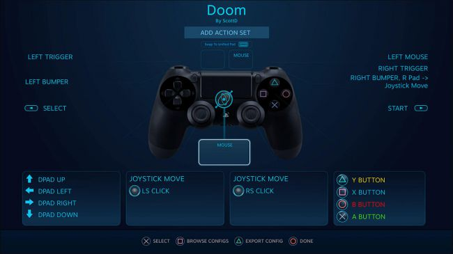 dualshock 4 steam support