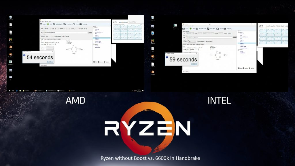 AMD Ryzen Vs Intel 6900k