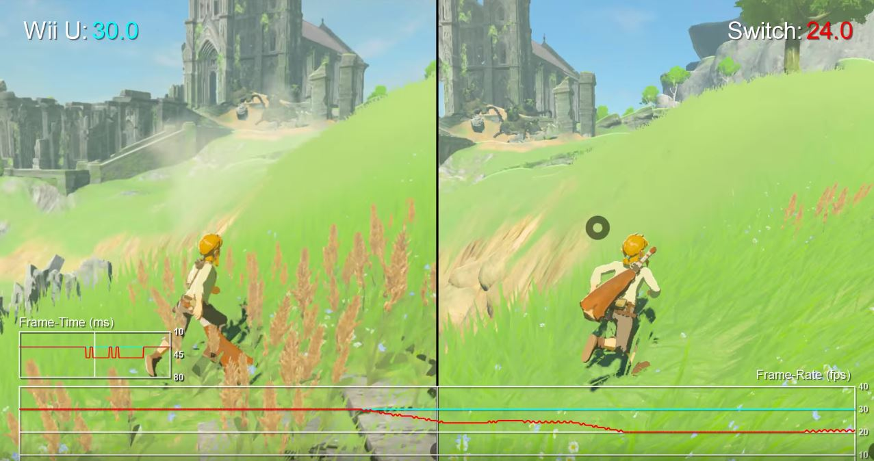 Zelda: Breath of the Wild on Wii U vs. Nintendo Switch