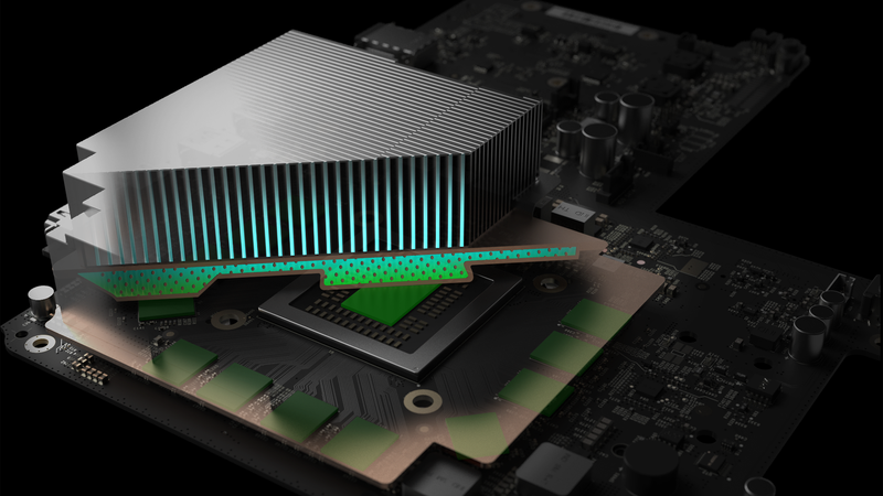 Project Scorpio's vapor-chamber cooling.