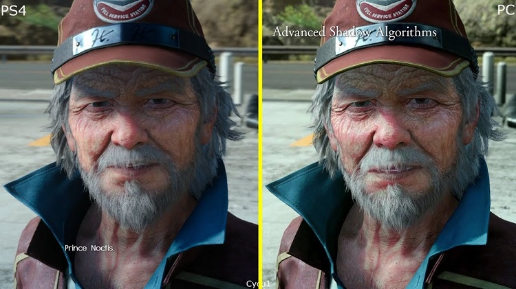 Final Fantasy XV PS4 vs PC Graphics