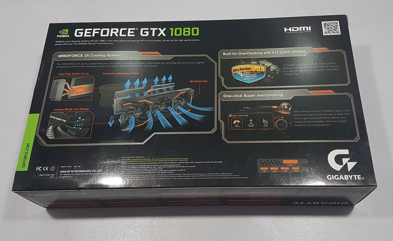 Gigabyte GeForce GTX 1080 Windforce OC Review