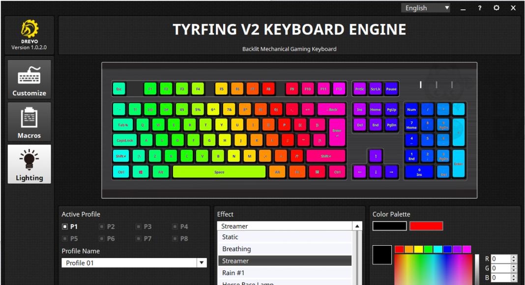 Drevo Tyrfing V2 87/88-Key RGB Tenkeyless Mechanical Gaming
