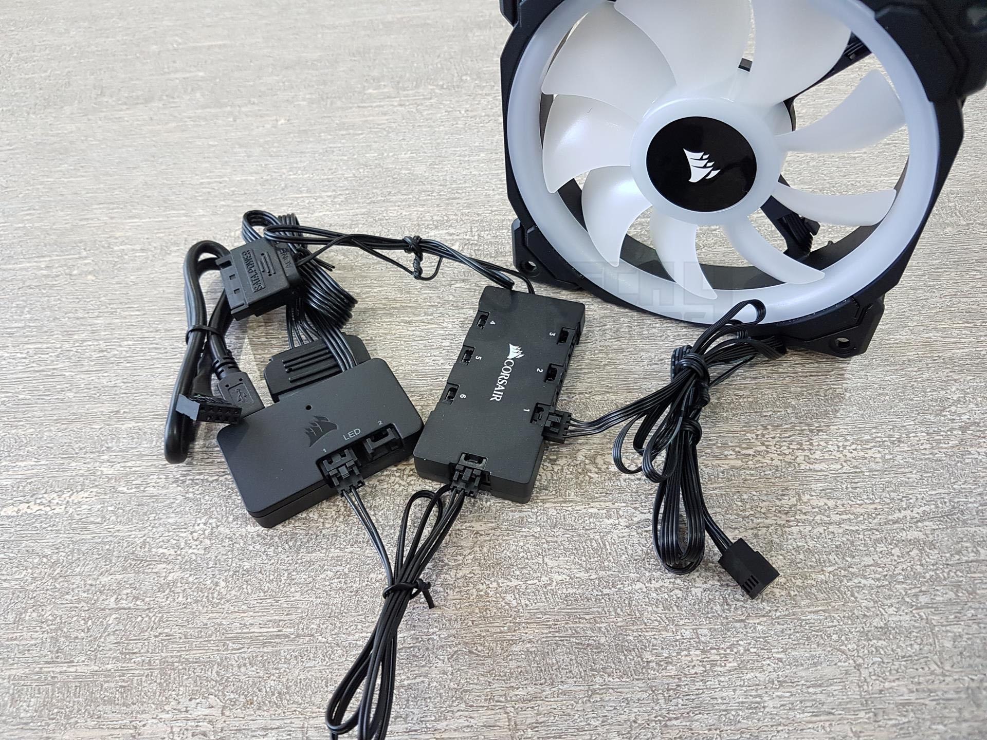 Corsair Ll120 Rgb Led 3x Fans Pack Review Power Setting Up The Device Is Easy And Straightforward Connect Ll Series To Hub Making Sure That Are Connected In An Order