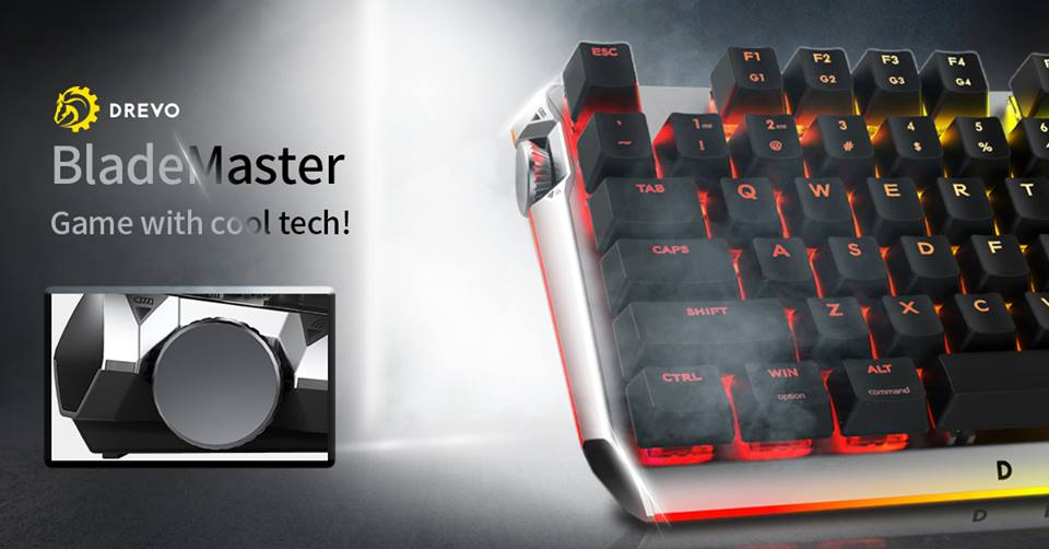 Drevo Blademaster Keyboard For Gamers With Programmable Knob