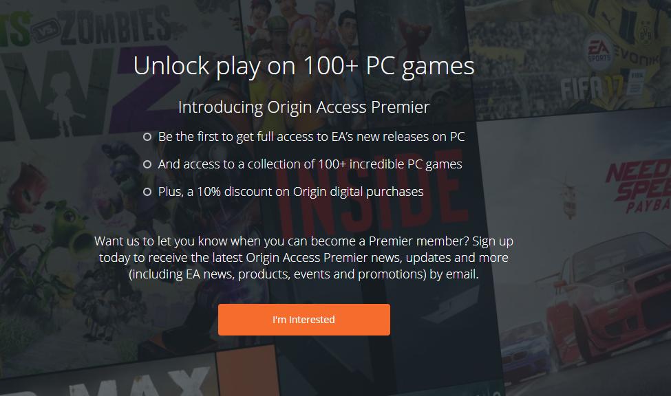 origin access premier release date