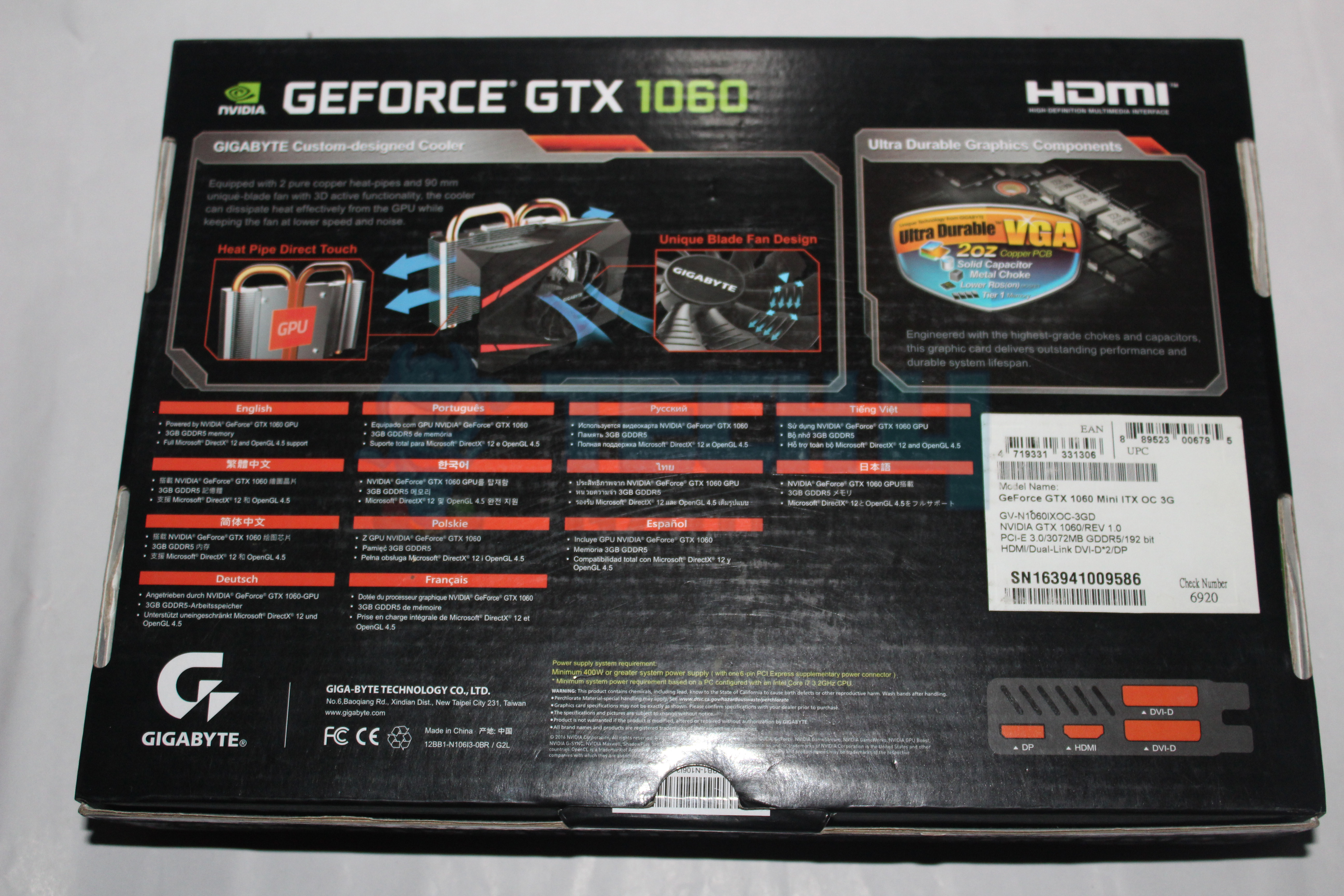 Gigabyte GTX 1060 Mini 3GB Graphics Card Review