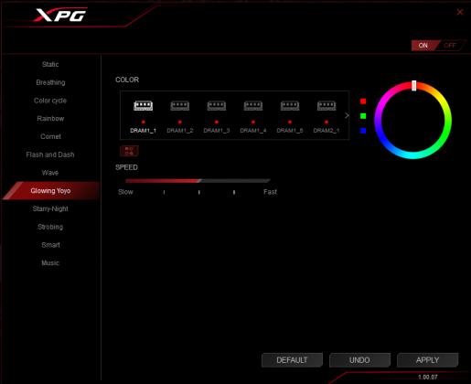 ADATA XPG SPECTRIX D41 16GB DDR4 RGB Software
