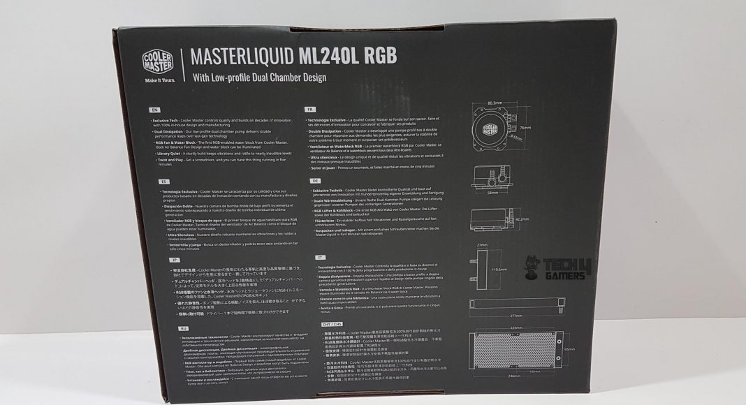 Cooler Master MasterLiquid Lite ML240L RGB CPU Cooler