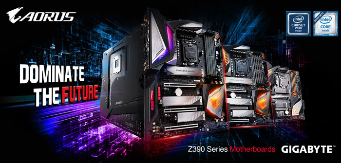 GIGABYTE Launches Z390 AORUS Gaming Motherboards