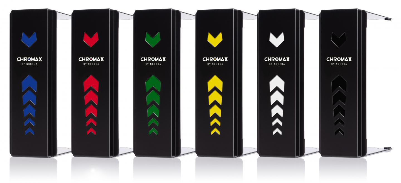 Noctua presents new chromax line fan and heatsink accessories