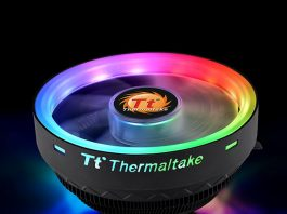Thermaltake UX100 ARGB Lighting Low Profile CPU Cooler