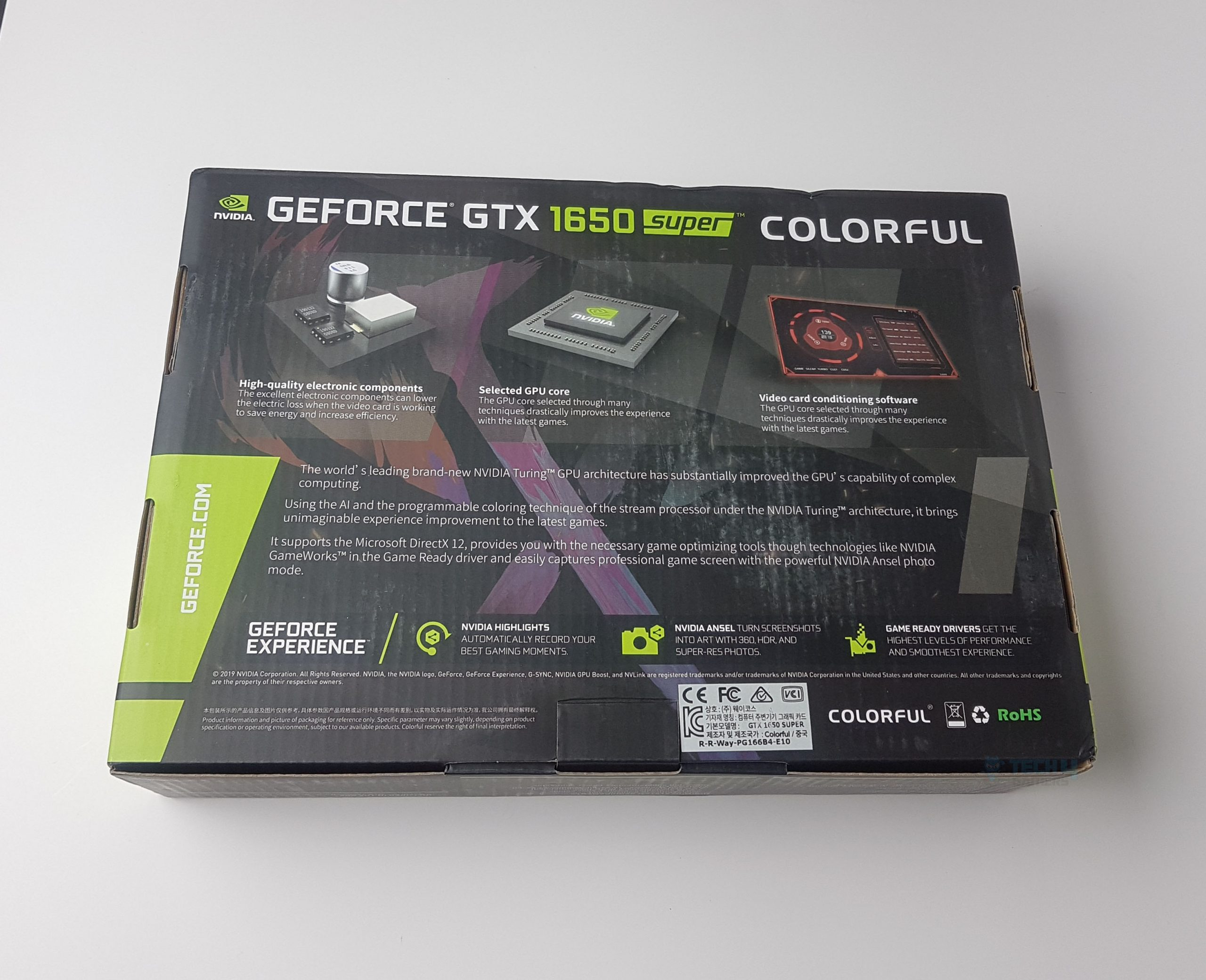 COLORFUL GTX 1650 Super Back Cover