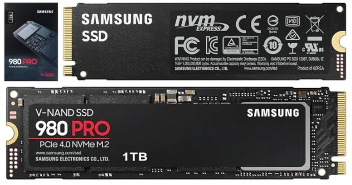 Samung 980 PRO PCIe 4.0 SSDs